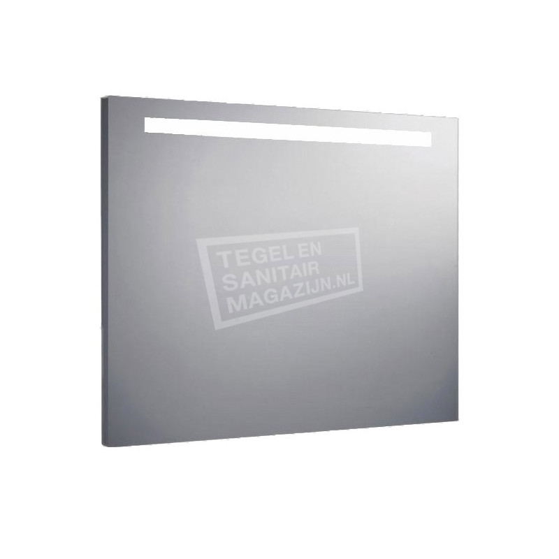 Aluminium spiegel met TL verlichting 80 cm