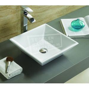 Sanilux Trento (38,5x38,5x12cm) keramische waskom