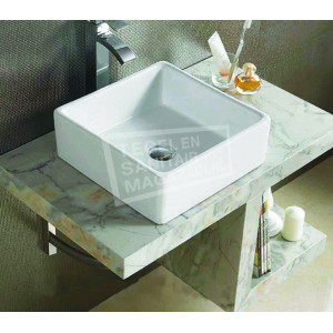 Sanilux Quatro (38x38x13cm) keramische opbouw wastafel