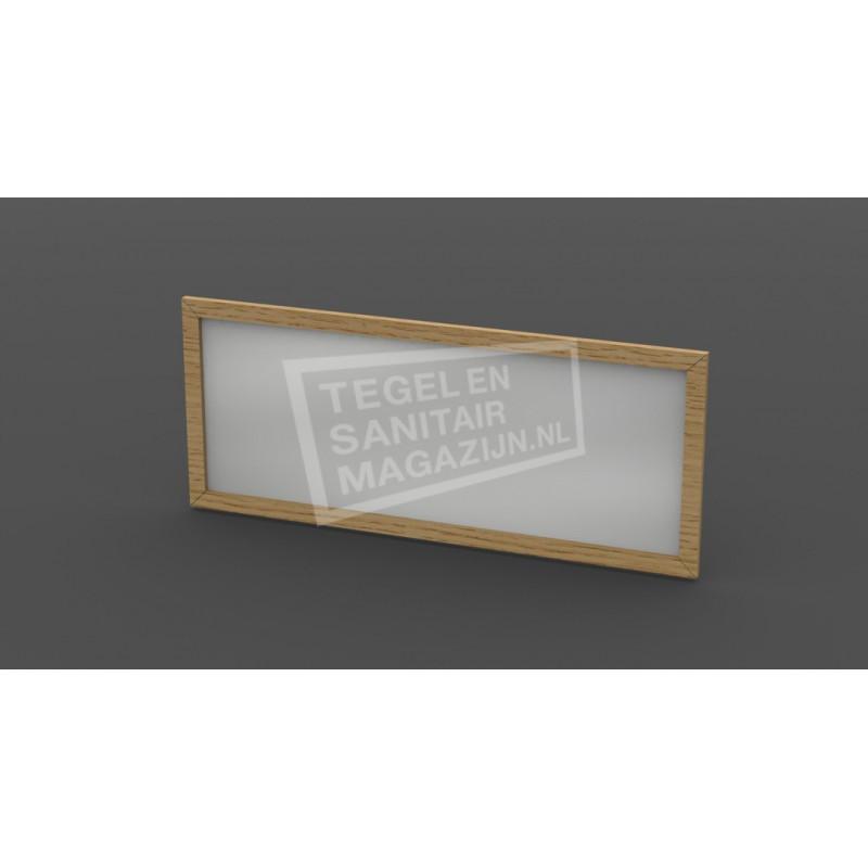 Forzalaqua Gela Spiegel 160x50x2cm met Lijst 4cm Silver Grey Massief Eiken