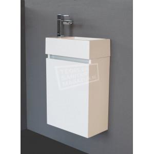 Sanilux Trendline Fonteinkast 40 cm Hoogglans Wit met 1 deur Greeploos Softclose L/R