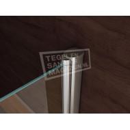 Wiesbaden Kreuz (90x90x200 cm) douchecabine vierkant 1 swingdeur 8 mm NANO Anti-kalkbehandeling