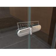 Wiesbaden Kreuz (90x90x200 cm) douchecabine kwartrond 2 draaideuren 8 mm NANO Anti-kalkbehandeling