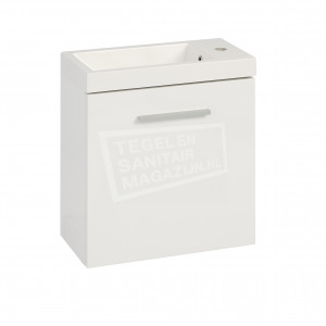 Wiesbaden Emma toiletmeubel 50x25x50 cm hoogglans wit