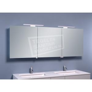 Mueller Large Luxe Spiegelkast met LED Verlichting (160x60x14 cm)
