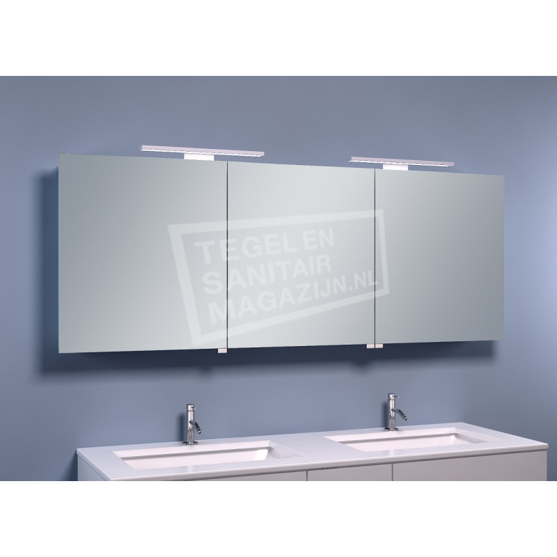 Schulz Large Luxe Spiegelkast met LED Verlichting (160x60x14 cm)