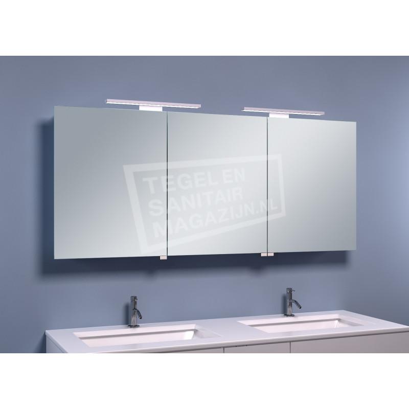 Schulz Large Luxe Spiegelkast met LED Verlichting (140x60x14 cm)