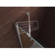 Wiesbaden Kreuz (100x100x200 cm) douchecabine kwartrond 2 draaideuren 8 mm NANO Anti-kalkbehandeling