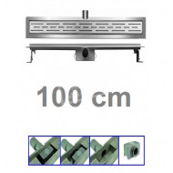 Bibury 3e Generatie 100cm RVS met flens en rooster