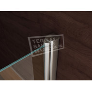 Wiesbaden Kreuz (100x100x200 cm) douchecabine vierkant 1 swingdeur 8 mm NANO Anti-kalkbehandeling