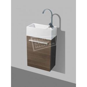 Sanilux Basic Fonteinkast 40 cm Grey Oak met 1 deur Softclose L/R