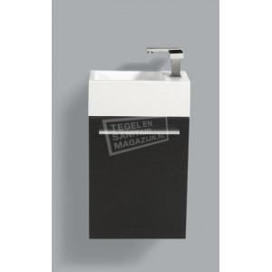 Sanilux Basic Fonteinkast 40 cm Zwart Wenge met 1 deur Softclose L/R