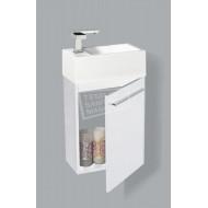 Sanilux Basic Fonteinkast 40 cm Hoogglans Wit met 1 deur Softclose L/R
