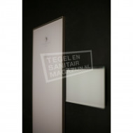 Sunshower Ventilatierooster 15x9cm voor Pure en Pure XL en Deluxe Glas Wit