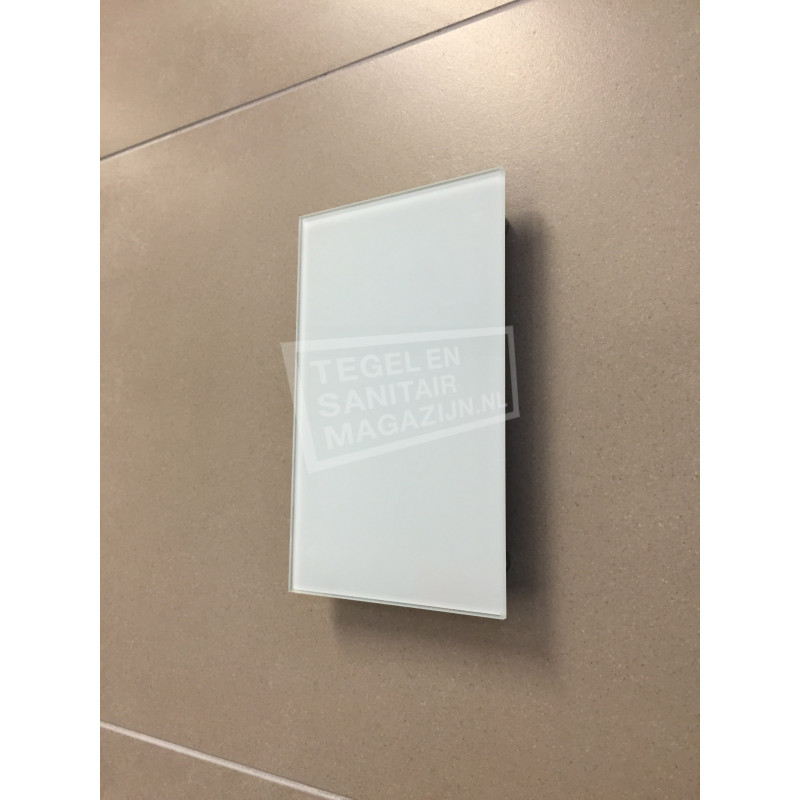 Sunshower Ventilatierooster 13x13cm voor Pure en Pure XL en Deluxe Glas Wit