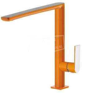 TRES Loft Exclusive moderne keukenmengkraan oranje/chroom 20044001NA