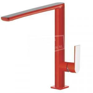 TRES Loft Exclusive moderne keukenmengkraan rood/chroom 20044001RO