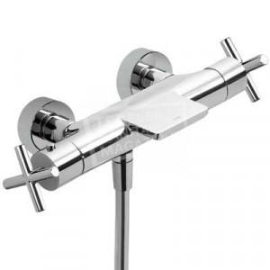 TRES Bimax badthermostaat met watervaluitloop chroom 06317201