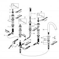 Wiesbaden Caral 5-gats badrandcombinatie chroom