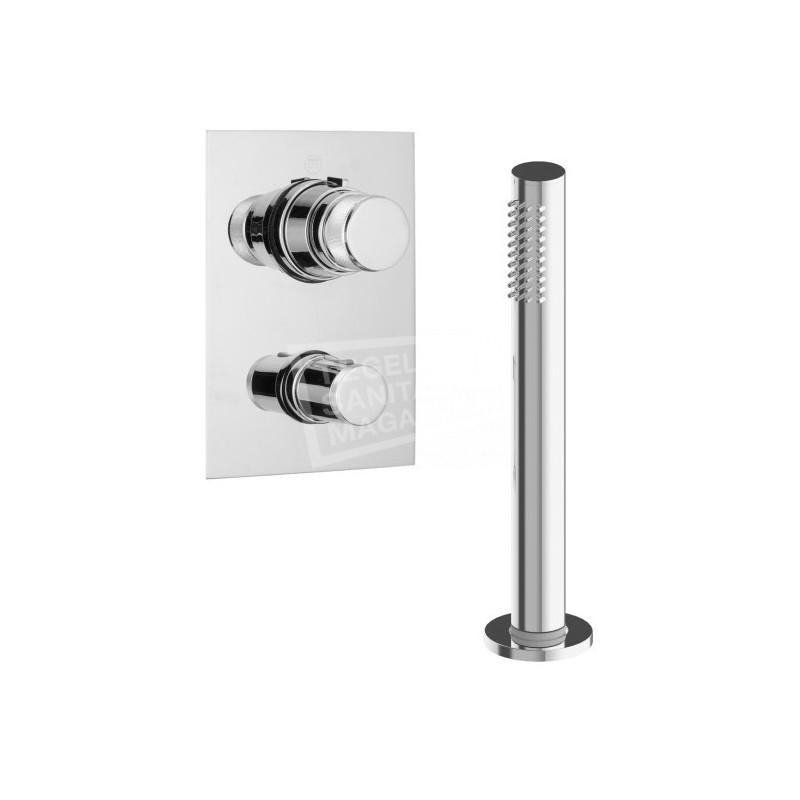 Beterbad Pure Duero thermostatische inbouw badkraan met handdouche voor badrandmontage DU5409