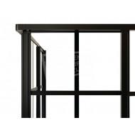 Best Design Black Edition 89x89x190 cm Douchecabine 4 mm Muurprofiel Zwart Links en rechts NANO