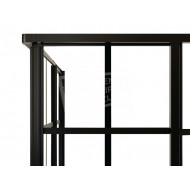 Best Design Black Edition 99x99x190 cm Douchecabine 4 mm Muurprofiel Zwart Links en rechts NANO