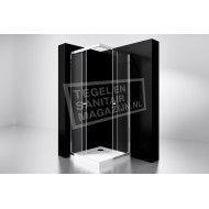 Best Design Project 90x90x190 cm Douchecabine Hoekinstap 2 Schuifdeuren 5 mm Aluminium