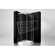 Best Design Project 100x100x190 cm Douchecabine Kwartrond 2 Schuifdeuren 5 mm Aluminium
