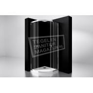 Best Design Project 90x90x190 cm Douchecabine Kwartrond 2 Schuifdeuren 5 mm Aluminium
