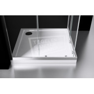Best Design Project 100x100x190 cm Douchecabine Hoekinstap 2 Schuifdeuren 5 mm Aluminium