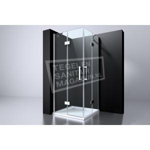 Best Design Erico 90x90x195 cm Douchecabine Hoekinstap 2 Draaideuren 6 mm Chroom NANO