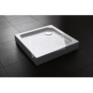 Best Design Project 80x80x14 cm Douchebak Opbouw Vierkant Wit Acryl