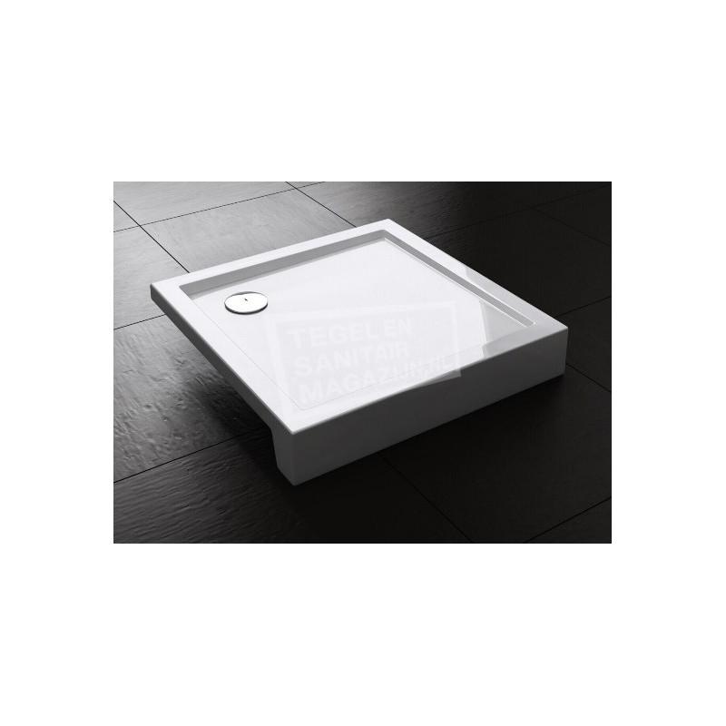 Best Design Project 100x100x14 cm Douchebak Opbouw Vierkant Wit Acryl