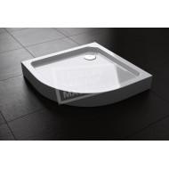 Best Design Project 90x90x14 cm Douchebak Opbouw 55 cm Kwartrond Wit SMC