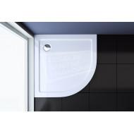 Best Design Mino 80x80x4 cm Lage Douchebak 55 cm Kwartrond Wit Acryl
