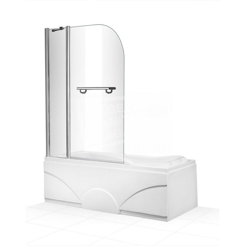 Gradara Bathscreen 100 cm Badwand 6 mm Muurprofiel Chroom Links en rechts