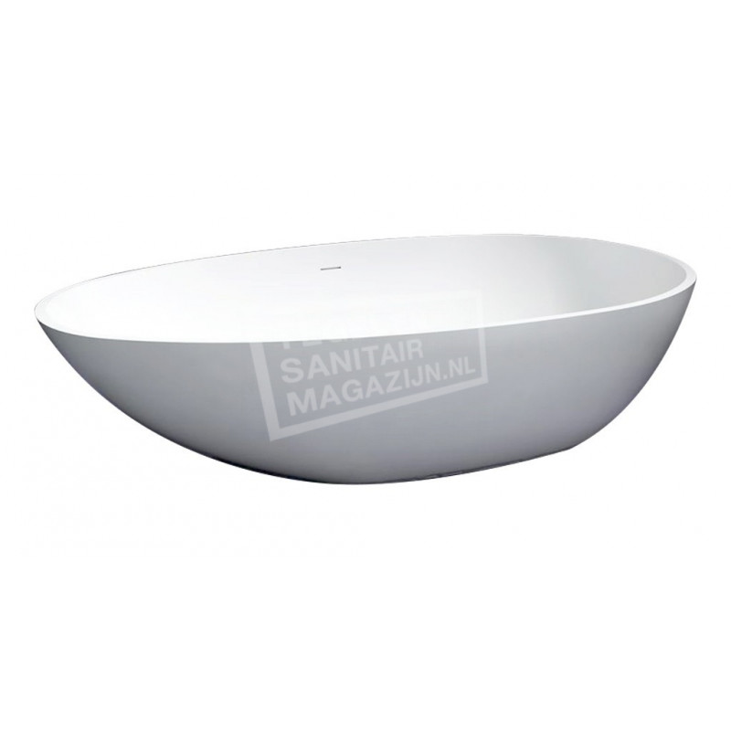 Best Design Puur Vrijstaand Bad 180x90x58 cm Wit Mat Solid Surface