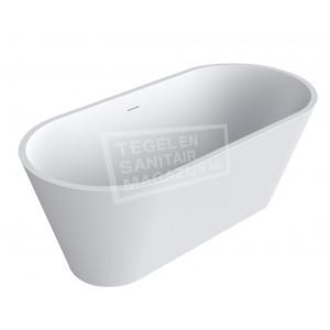 Best Design Mooi Vrijstaand Bad 169x81x64 cm Wit Mat Solid Surface