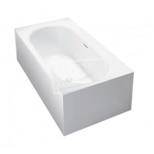 Best Design Home Vrijstaand Bad 180x93x55 cm Wit Mat Solid Surface