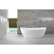 Wiesbaden Solid Surface Vrijstaand Bad 179.5x84.5x64 cm Wit Mat Solid Surface