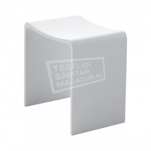Wiesbaden Solid Surface Douchezitje 40x30x42.5 cm Wit Mat Solid Surface