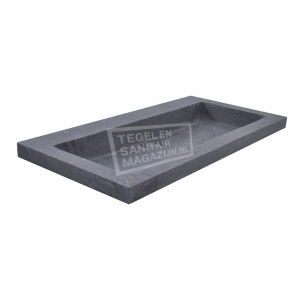 Wiesbaden Spuele Wastafel Enkel 80x46x5 cm zonder kraangaten Zwart Natuursteen