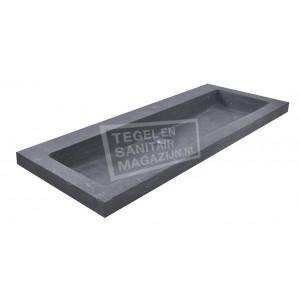 Wiesbaden Spuele Wastafel Enkel 100x46x5 cm zonder kraangaten Zwart Natuursteen