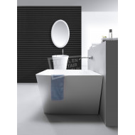 Wiesbaden Solid Surface Vrijstaand Bad 179x84.5x57.5 cm Wit Mat Solid Surface