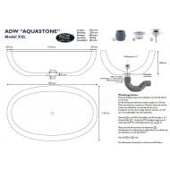 Best Design Aquastone Vrijstaand Bad 191x117x50 cm Sandstone Steen
