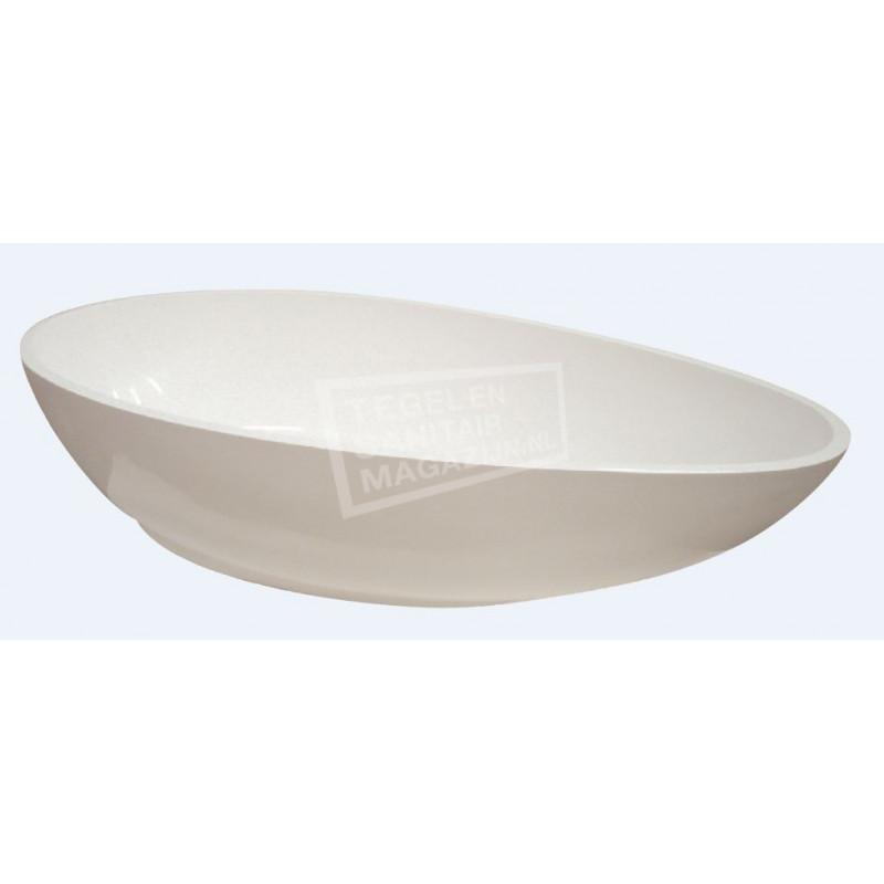 Best Design Ro Stone Vrijstaand Bad 190x92x50 cm Wit Mat Solid Surface
