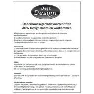 Best Design Just Solid Fontein 36x18x10 cm zonder kraangaten Wit Mat Solid Surface