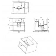 Best Design Just Solid Fontein 32.5x32.5x25 cm zonder kraangaten Wit Mat Solid Surface