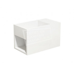Best Design Just Solid Fontein 33x18x20,5 cm zonder kraangaten Wit Mat Solid Surface