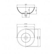 Best Design Just Solid Waskom 38x14.5 cm Wit Glans Solid Surface